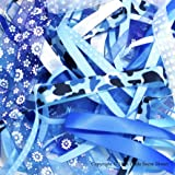 Ribbon off cut bundle - Blue shade - contains 10 different 1 metre ribbons