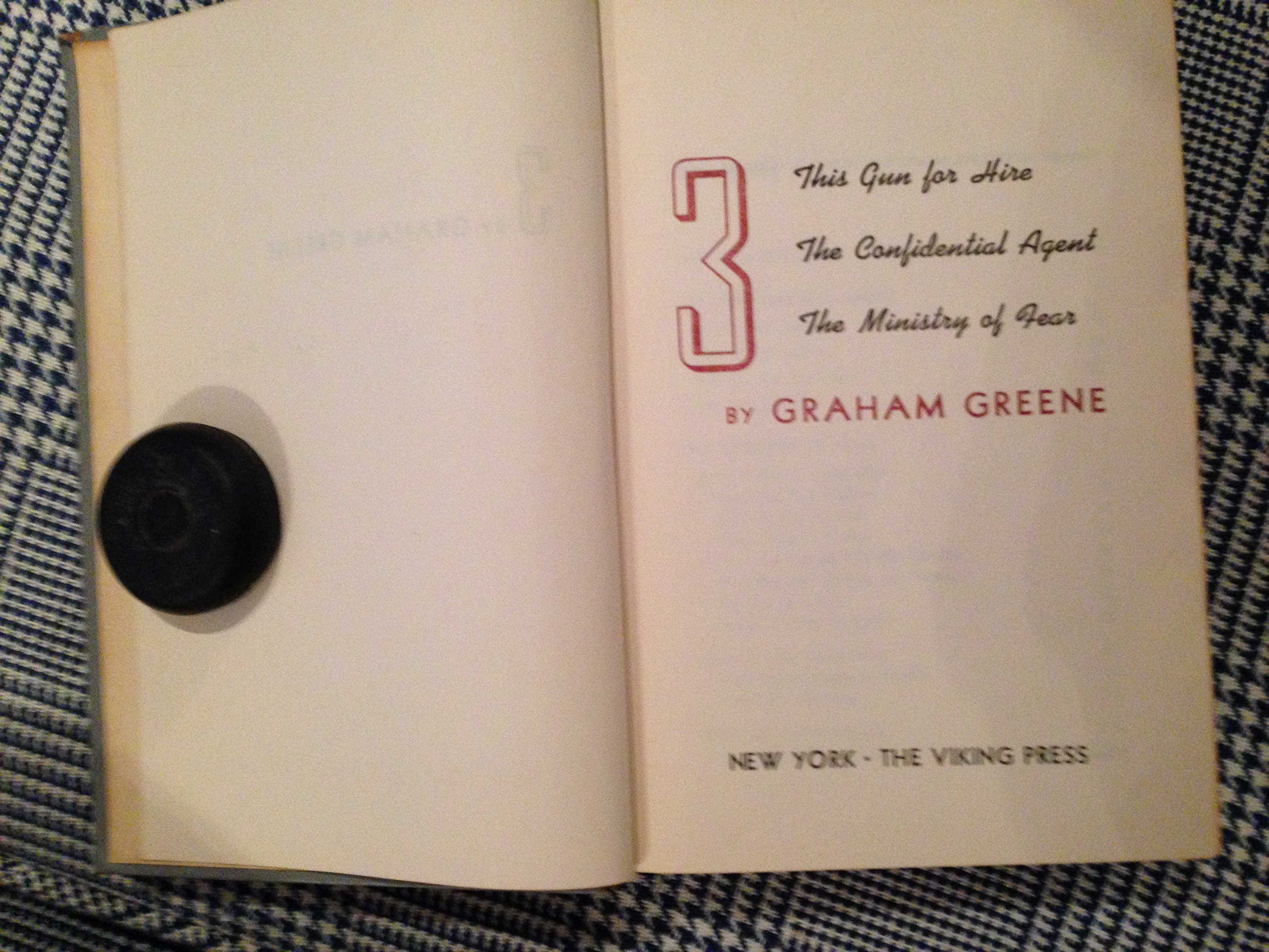 three by graham greene the ministry of fear the confidential