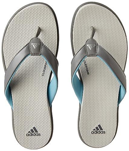209a5edaa8 Adidas Women s Cloudfoam One Y W Grethr Msilve Greone House Slippers ...