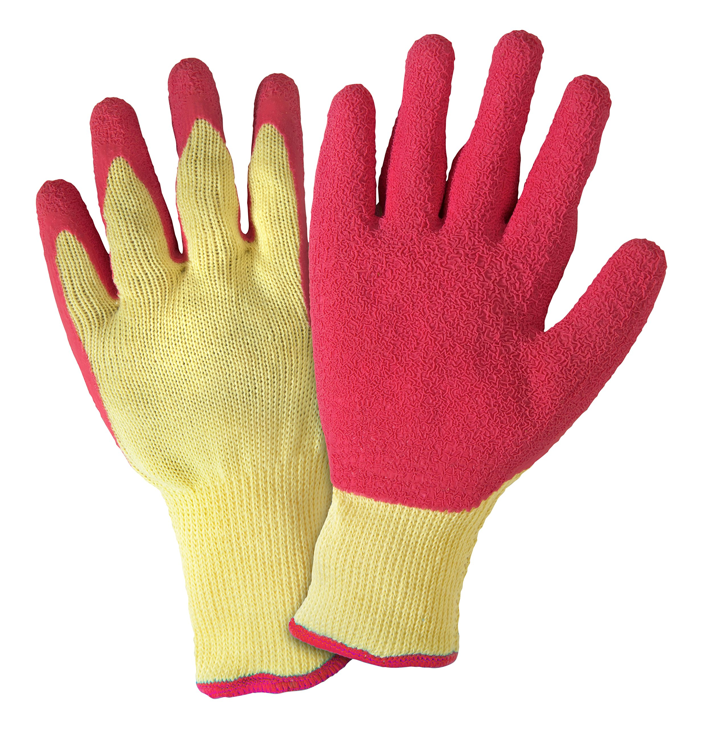 DIRTY WORK DW20700 Stretch Knit Gardening Gloves with Latex Coated Palm: Women's Large, Colors May Vary, 1 Pair