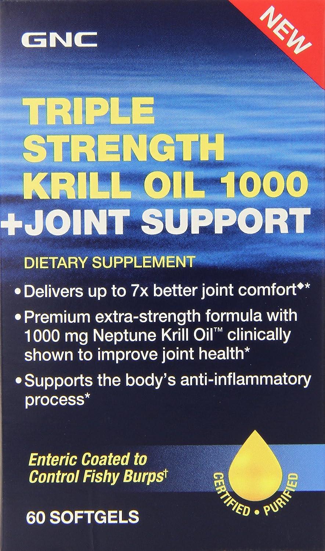 Gnc triple strength krill oil 1000 plus joint support for Gnc triple strength fish oil 1500