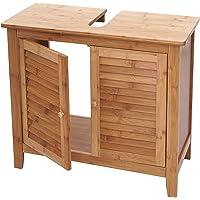 Mendler Waschbeckenunterschrank HWC-B18, Badezimmer Badschrank, Bambus ~ 60x67x30cm