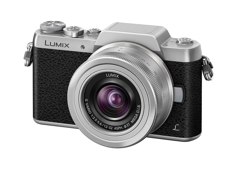 Panasonic DMC-GF7KEG-S - Cámara Digital de 16 MP (MILC, Live Mos, 4X, 12-32 mm G Vario OiS, 2.4 cm), Color Negro y Plateado (Importado)
