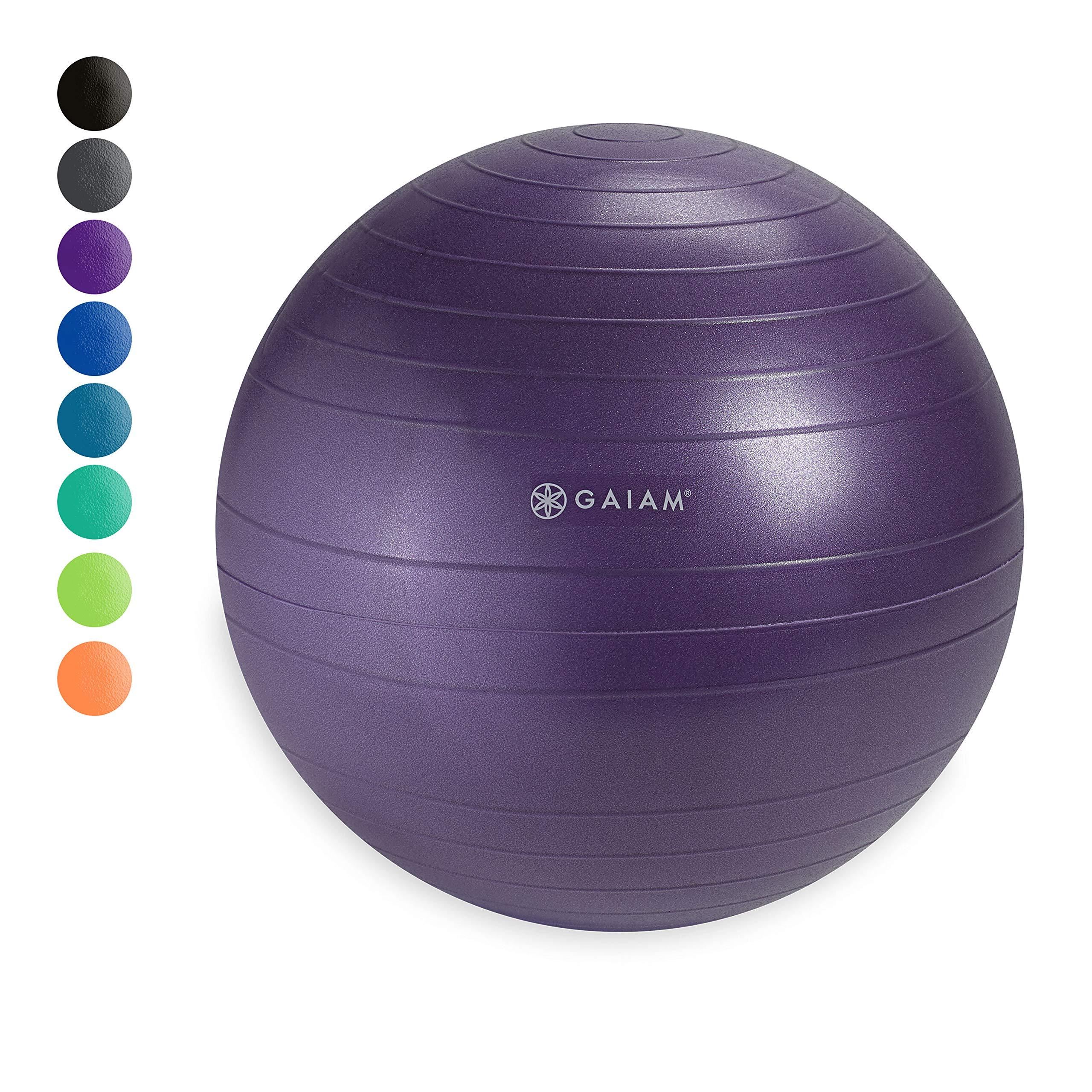 Gaiam Classic Balance Ball Chair Ball - Extra 52cm Balance Ball for Classic Balance Ball Chairs, Purple