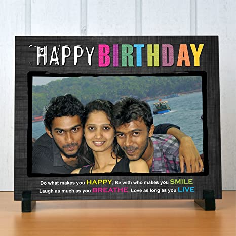 Buy Digi Xpress Personalized 8x10 Ceramic Tile With Wooden Stand
