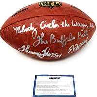 $399 » Jim Kelly Thurman Thomas Buffalo Bills Dual Signed Autograph Authentic On Field Duke Football Rare Inscribed Steiner Sports Certified