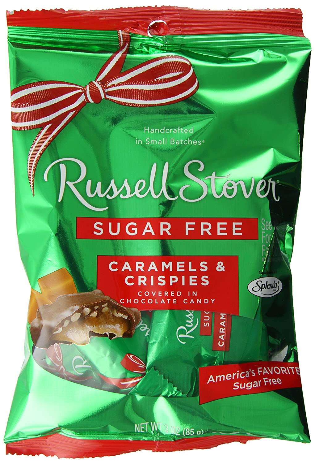 Russell Stover Sugar Free  Crispy Caramel,