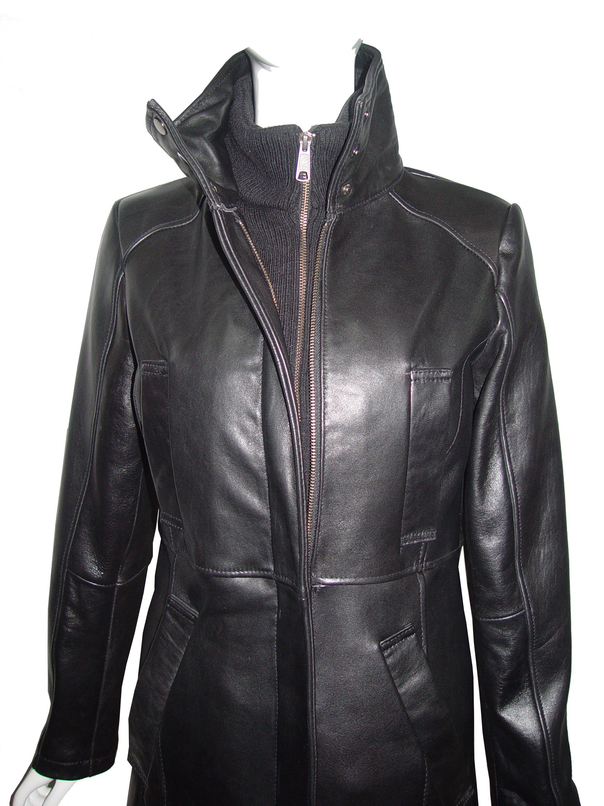 Paccilo Winter Womens 4182 PETITE & ALL SIZELamb Stadium Leather Jacket