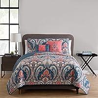 Victoria Classics Casa Re'al 5 Piece Reversible Quilt Set Full/Queen Coral