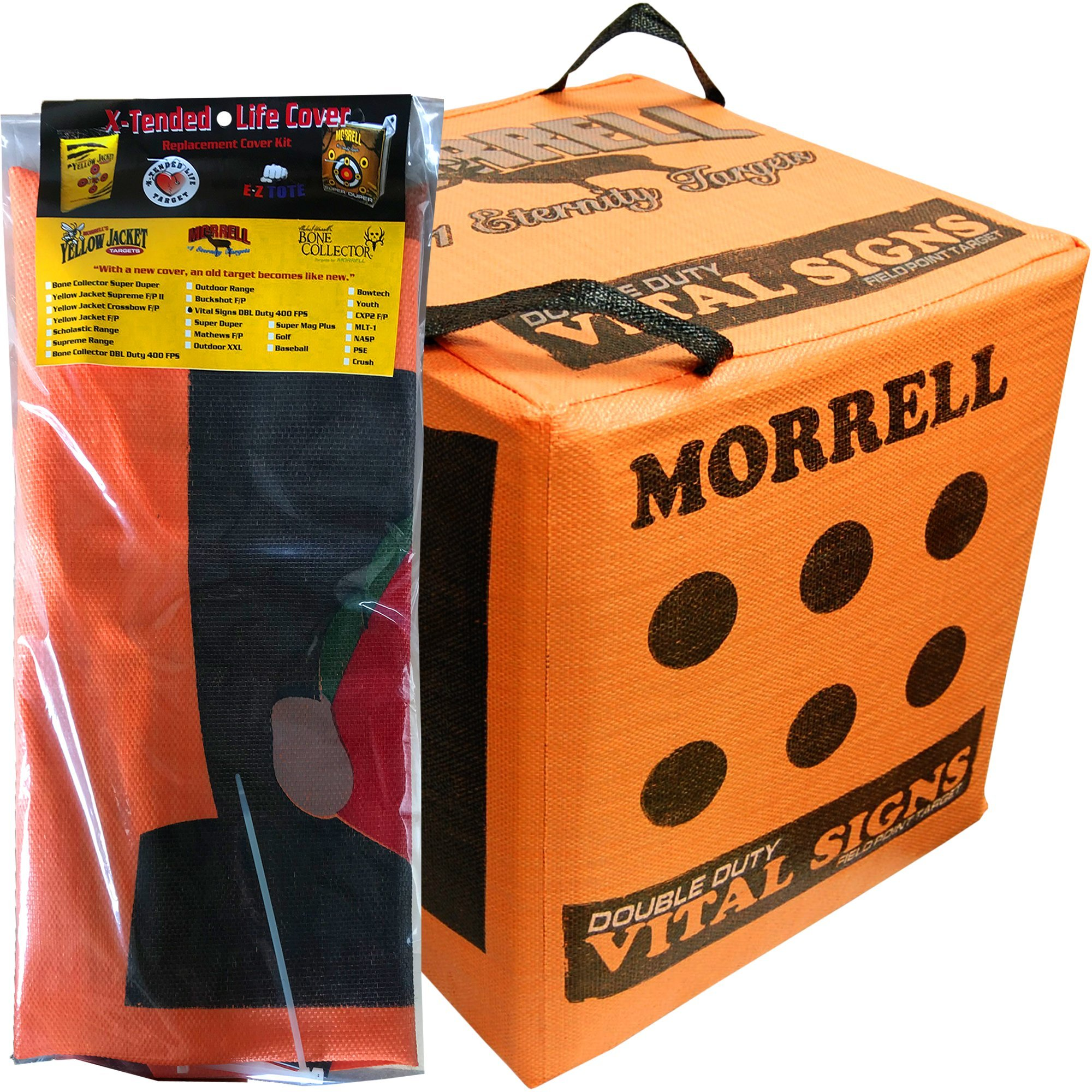 Morrell Double Duty Vital Signs Field Point Bag Cube Archery Target Replacement Cover (COVER ONLY)
