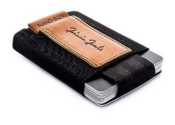 8007116e1fdb4 JAIMIE JACOBS Mini Wallet mit Münzfach - Nano Boy Slim Geldbeutel I  Kreditkarten-Portemonnaie Slim