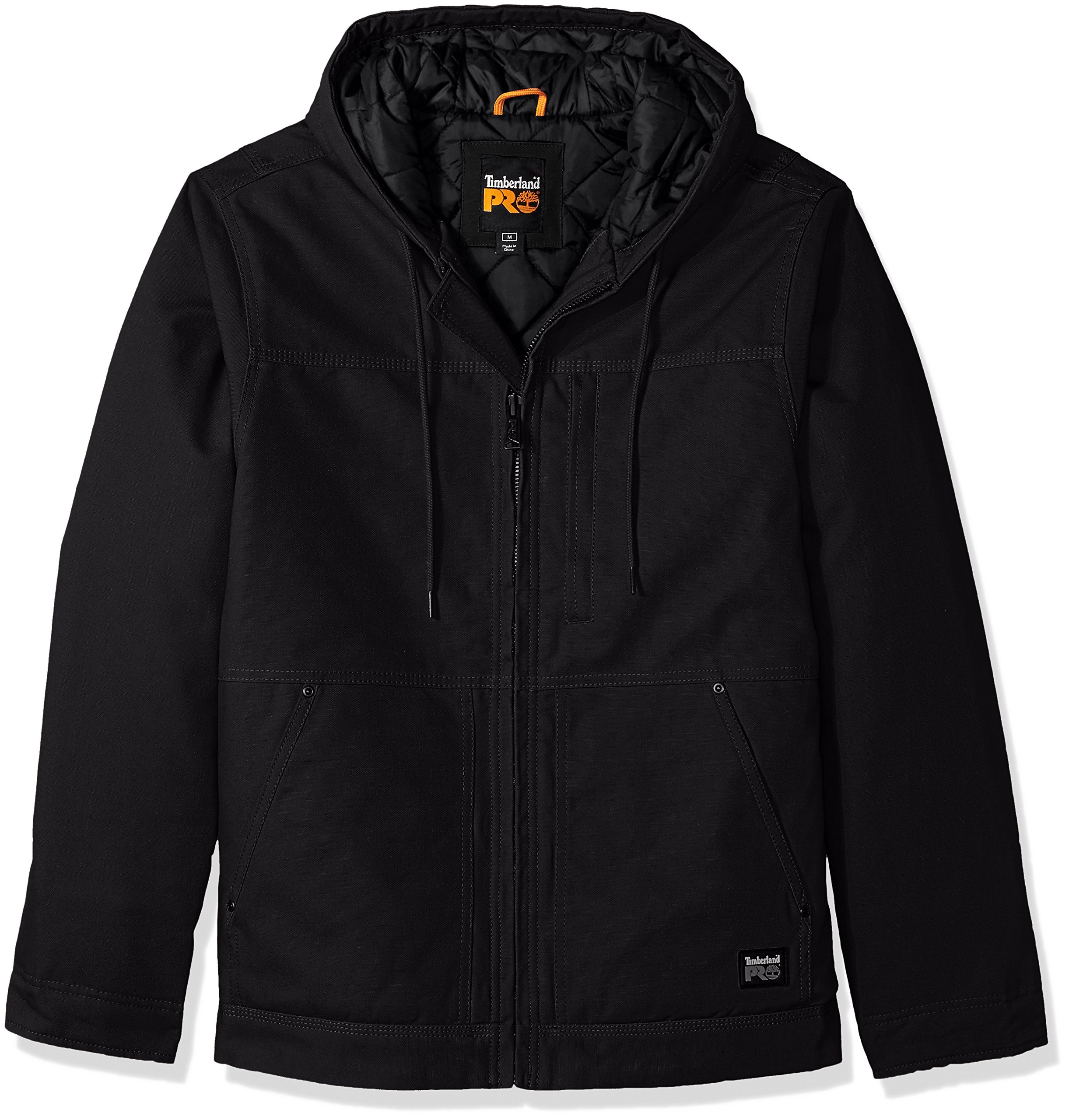 Timberland PRO Men's Big baluster Insulated Hooded Work Jacket, Jet Black, 3X-Large/Tall by Timberland PRO