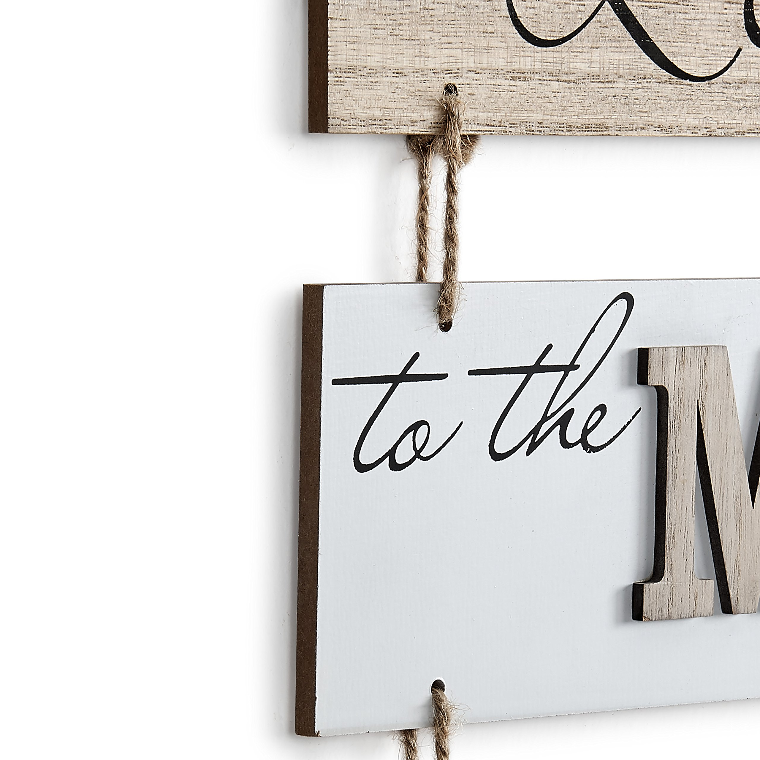 Danya B. ''I Love to the Moon and Back'' Sectioned Wooden Wall Plaque by Danya B (Image #2)