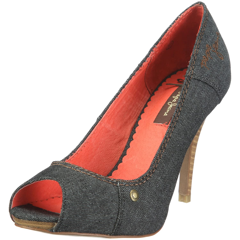 Pepe Jeans Footwear Diva, Damen Peep-Toe Pumps