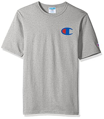 b1625a57 Champion LIFE Men's Heritage Tee, Oxford Gray/Patriotic 'C' Logo, L:  Amazon.in: Clothing & Accessories