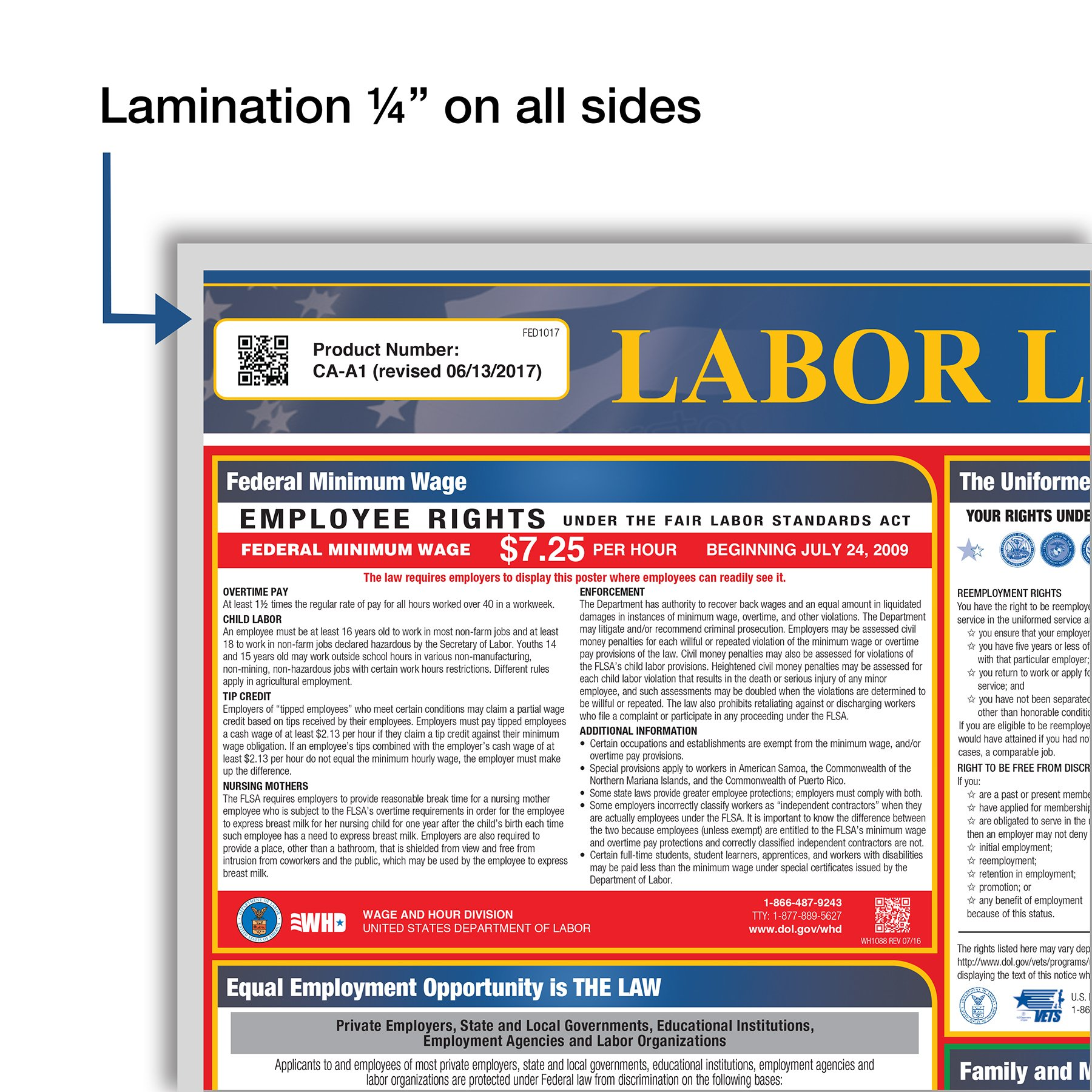 2018 Pennsylvania All-In-One Labor Law Posters for Workplace Compliance