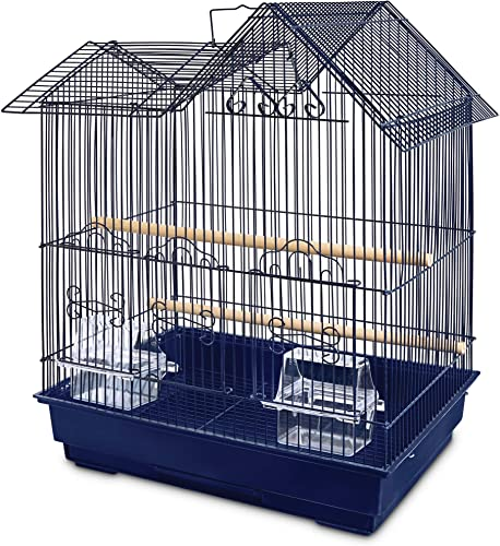 You Me Parakeet Ranch House Cage, Navy