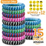 Mosquito Repellent Bracelet – Double Colored Insect Repellent Bands – Deet Free, All Natural – Suitable For All (Kids & Grown Ups) – Indoor & Outdoor Protection – Travel Insect Repellent – Waterproof Wrist Bands – 15 or 20 Pack (15 Pack)