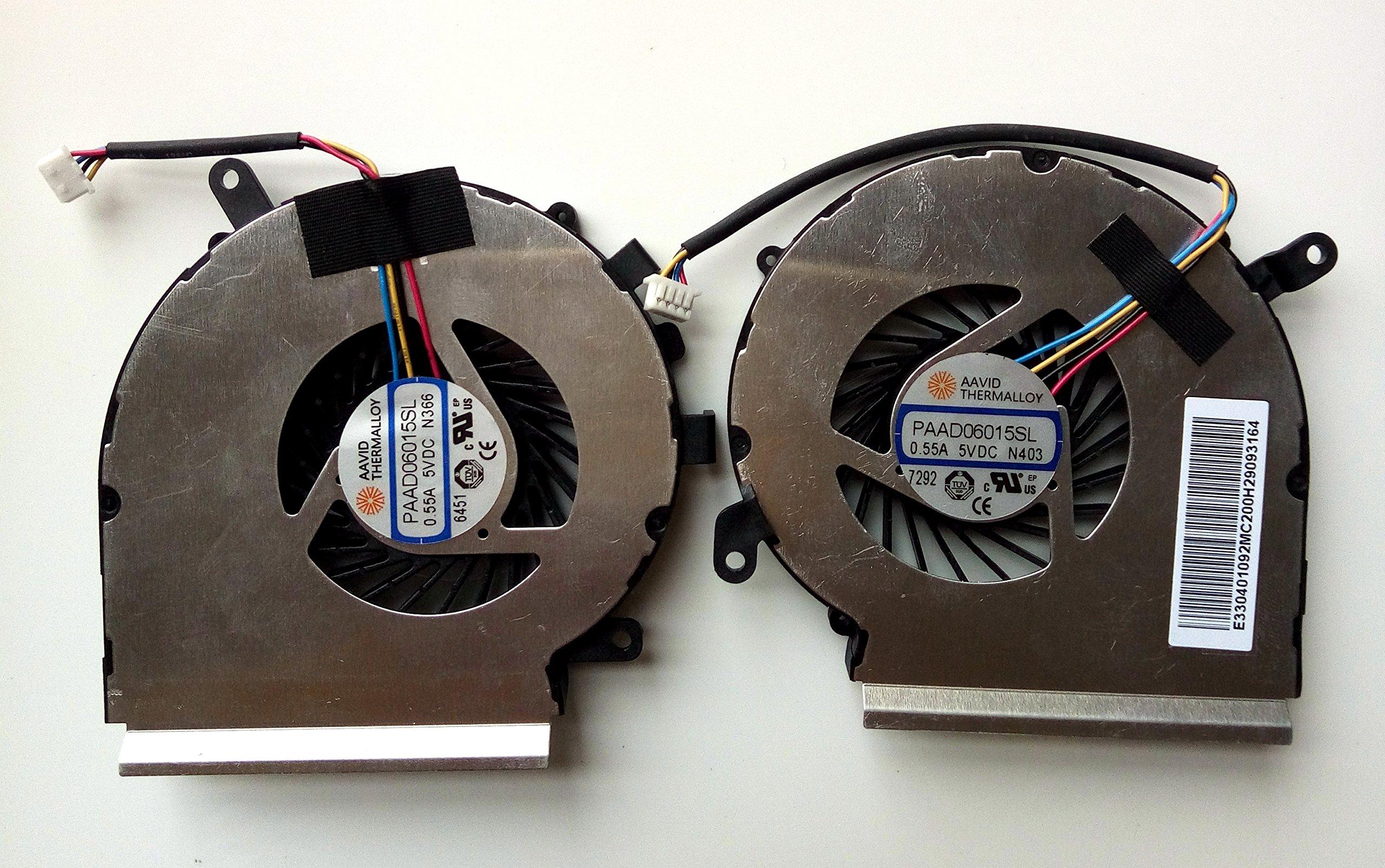 EJTONG New for MSI GE62VR GP62VR GP62MVR Laptop CPU & GPU Cooling Fan AAVID PAAD06015SL N366 N371 N403 4Pin