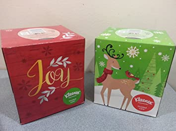 christmas holiday facial tissues decorator packages 2 pack bundle set reindeer - Christmas Packages