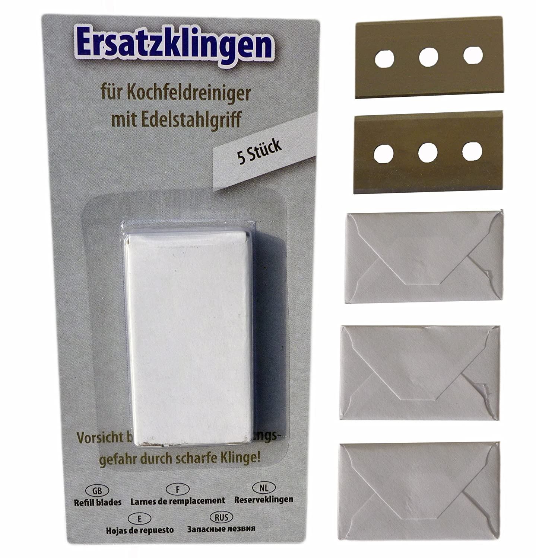 10 Stück Ersatzklingen Glasschaber Ceranfeldschaber Glasfeld Ersatz Klinge 40mm