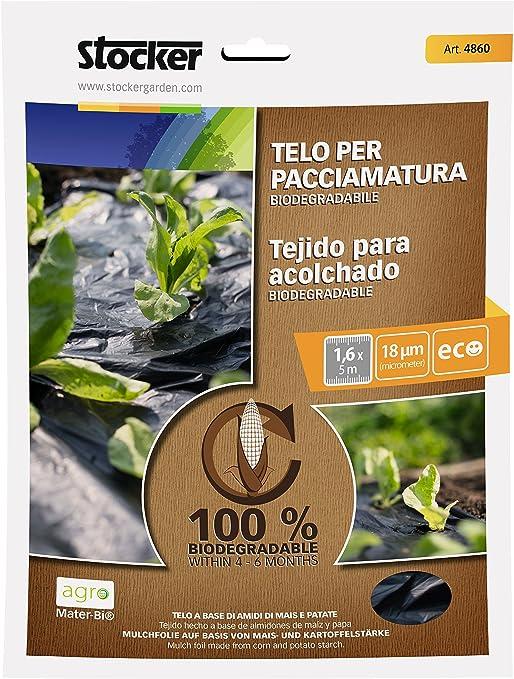 STOCKER - Tela Bio Pacciamatura Mater-BI 1, 40 x 100 m: Amazon.es ...