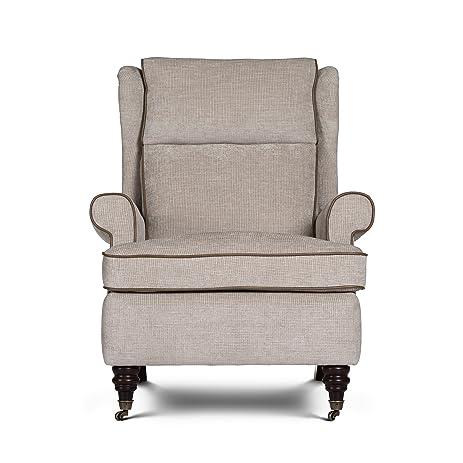 Opulence Home Sardinia Press Back Chair, Pepita Ivory