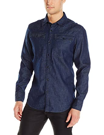 f828a57a3d Amazon.com  G-Star Raw Men s 3301 Us Shirt Long Sleeve  Clothing