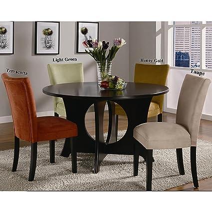 Una línea muebles Mirage mesa redonda/microfibra Parson sillas 5 ...