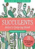 Succulents Portable Adult Coloring Book (31 stress-relieving designs) (Studio)