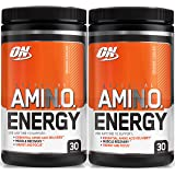 Optimum Nutrition Essential Amino Energy, Pack of Two 30 Servings (Orange Cooler 2 x 30 servings)
