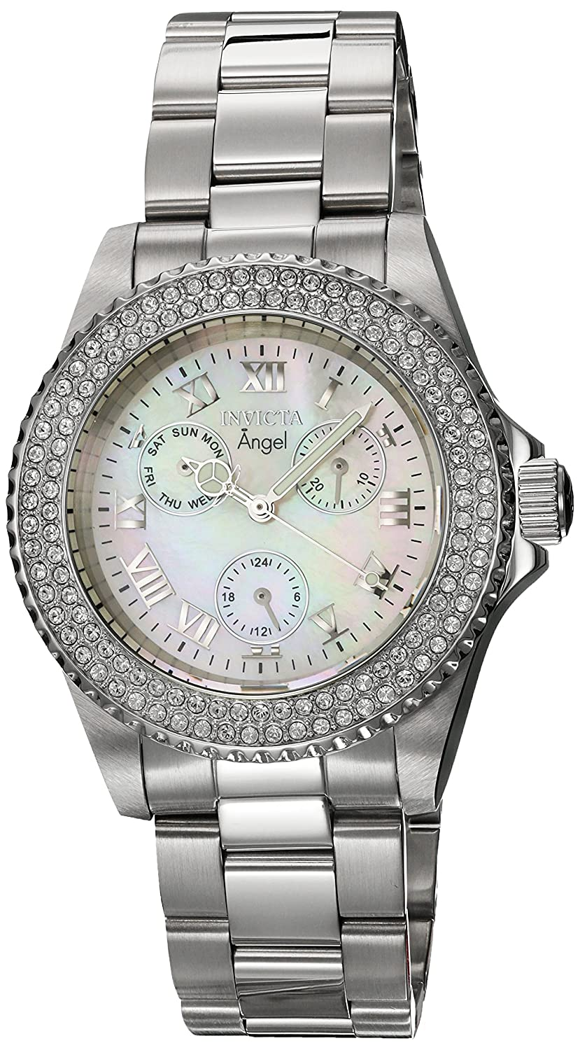Amazon.com: Invicta Women's 'Angel' Quartz Stainless Steel Casual Watch,  Color:Silver-Toned (Model: 17411): Invicta: Watches