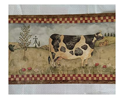 Farm Country Kitchen Cows Pigs Sheep Wallpaper Border Amazon Com