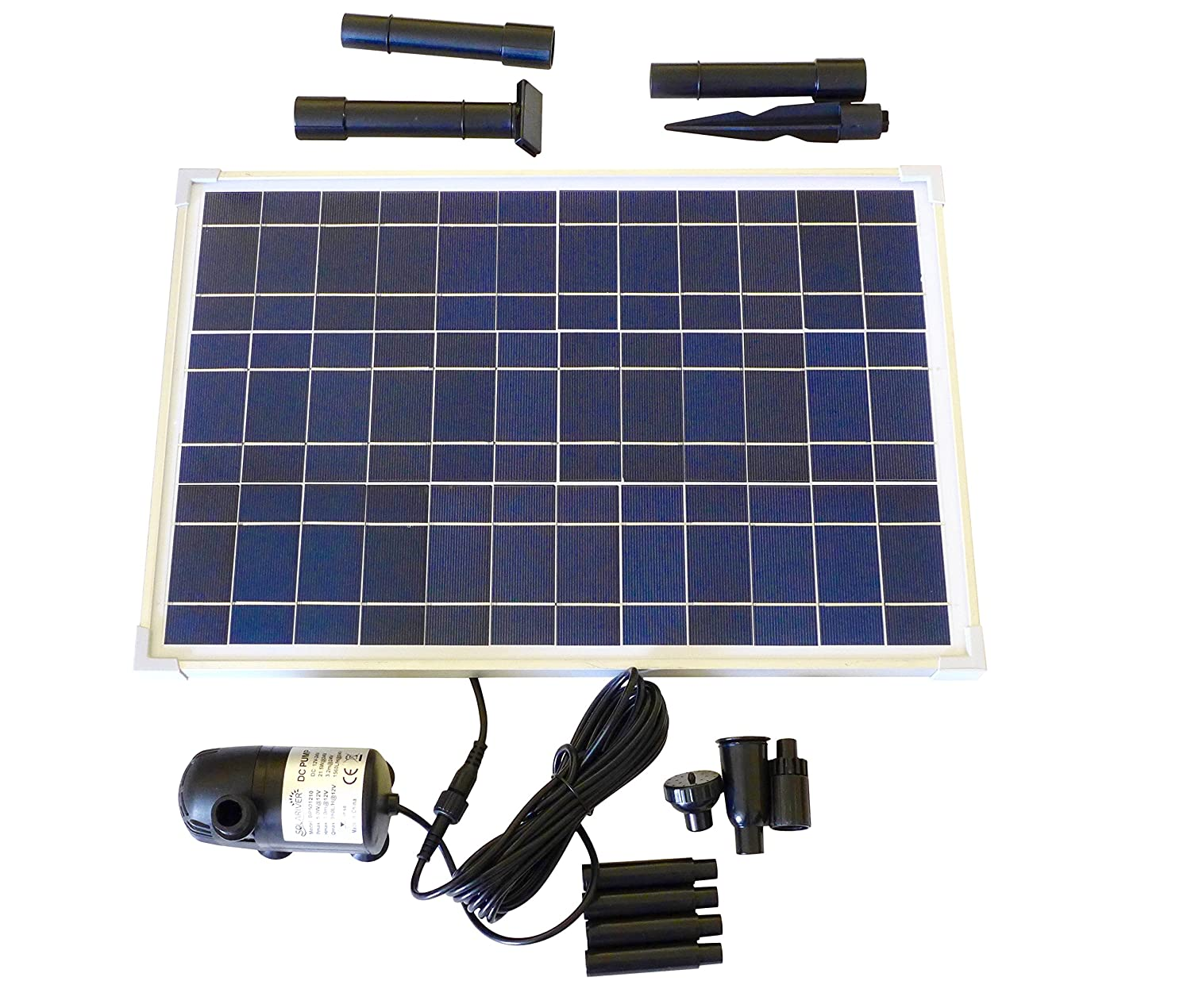 amazoncom solar water pump kit 200gph with 12v submersible water pump and 10 watt solar panel for diy solar powered pond fountain water feature