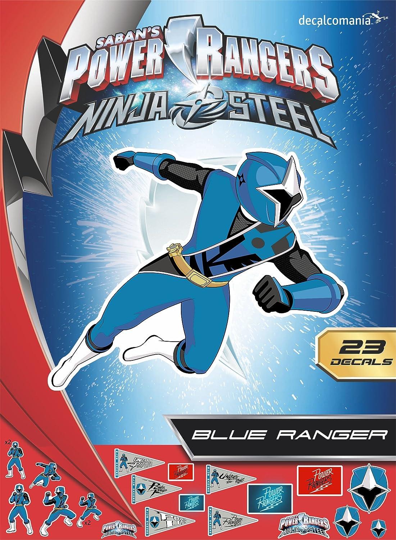 Power Rangers Ninja Steel Blue Ranger Decals for MacBook, Laptop, Vehicle - Includes 23 Stickers
