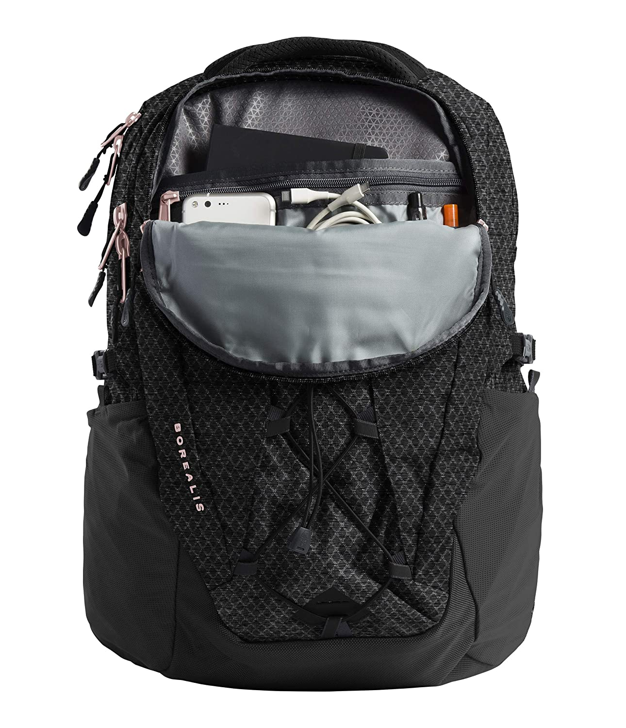 The North Face Women s Borealis Laptop Backpack – 15 TNF Black Heather Burnt