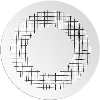 Ilaria.I ABC.O.BK Piatto con Lettera, Porcellana, Nero, 16x16x1.5 cm