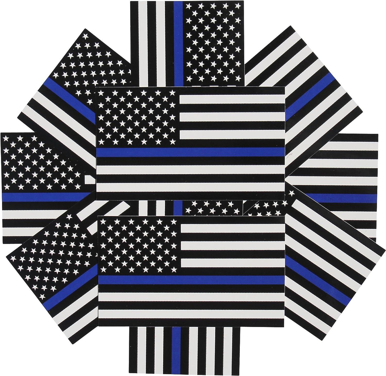 fine line flag Delgada línea azul bandera de vinilo – 3 x 5 en. Negro, Blanco y azul la bandera americana adhesivo para coches y camiones – EN apoyo de oficiales de