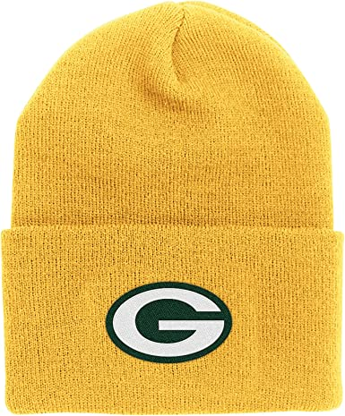 Amazon Com Nfl End Zone Cuffed Knit Hat K010z Green Bay Packers One Size Fits All Clothing