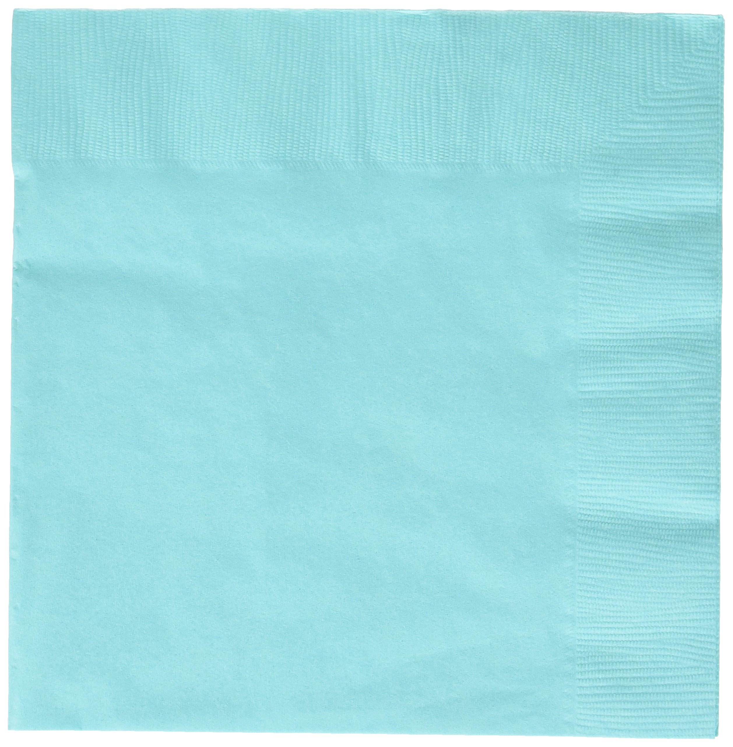 Durable 2-Ply Plain Dinner Napkins Party Tableware, Robin's-egg Blue, Paper, 8'' x 8'', Pack of 20