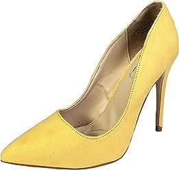78f84cb20d6 Anne Michelle Women s Plain Pointy-Toe Dress Heel Pump