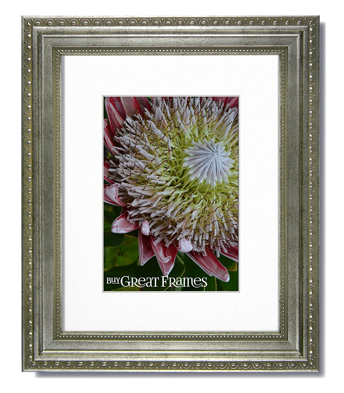 Amazon.com - 16x20 Ornate Heritage Silver Picture Frame and Clear ...