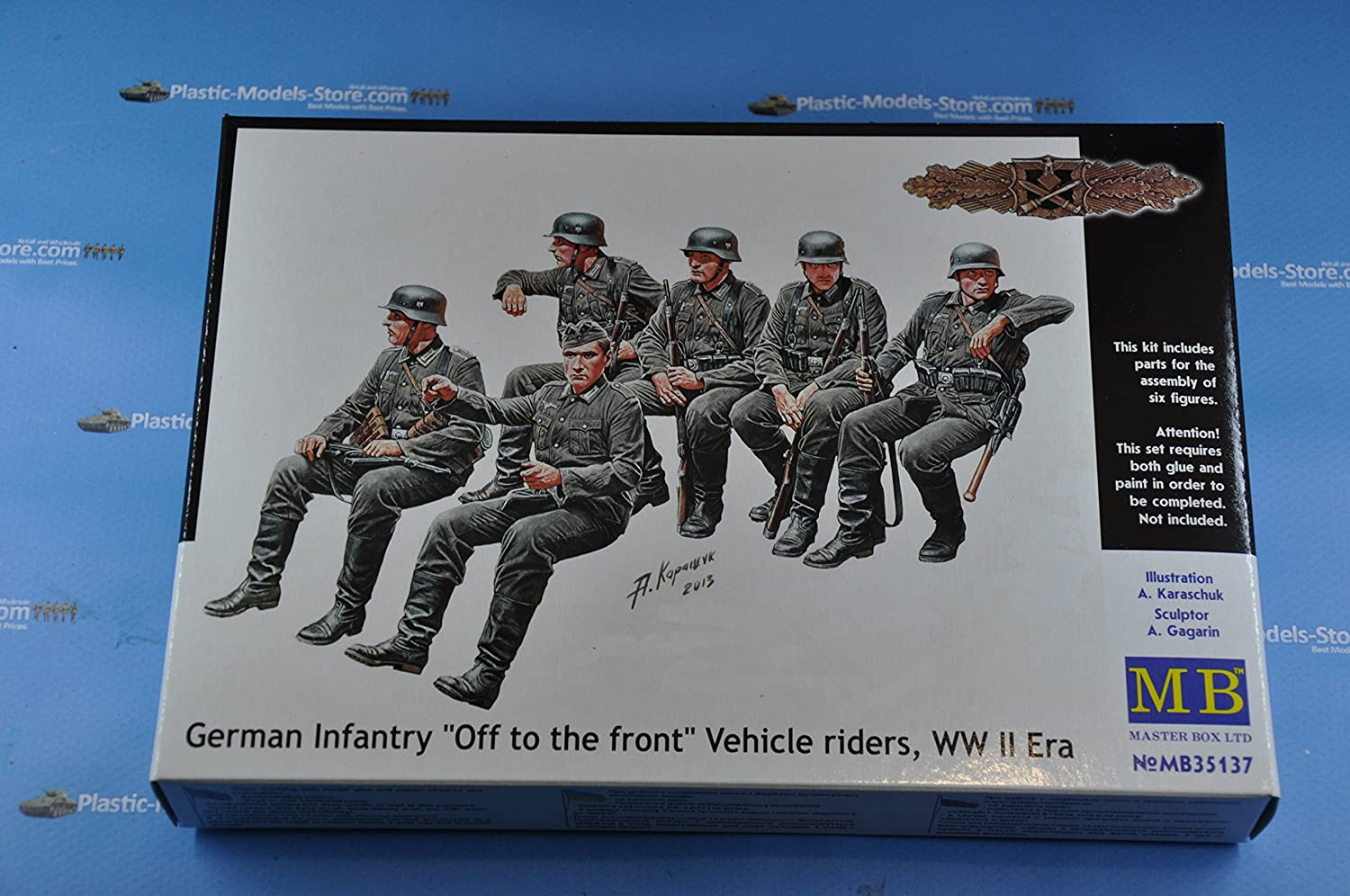 """Master Box 35137 /""""German infantry /'Off to the front/' vehicle riders/"""" 1//35"""