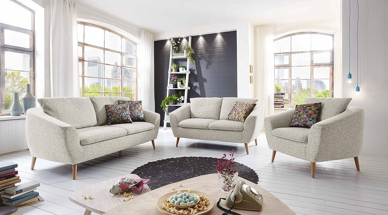 Cavadore 2-Sitzer Sofa Flira mit Rückenkissen / Kleines Sofa im ...