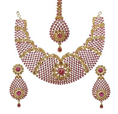 Bindhani Brides Wedding Party Wear Traditional Bridesmaid Ethnic Bridal  Bollywood Jewellery Gold Plated Rhinestone Austrian Crystal 3c8a4e1172d0