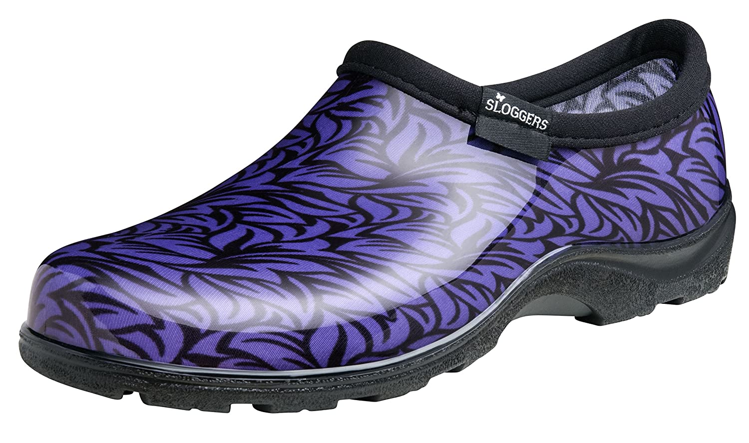 Sloggers Women's Waterproof Rain and Garden Shoe with Comfort Insole, Casual Floral Purple, Size 6, Style 5117FLP06 B01H7X98UA 6|Casual Floral Purple