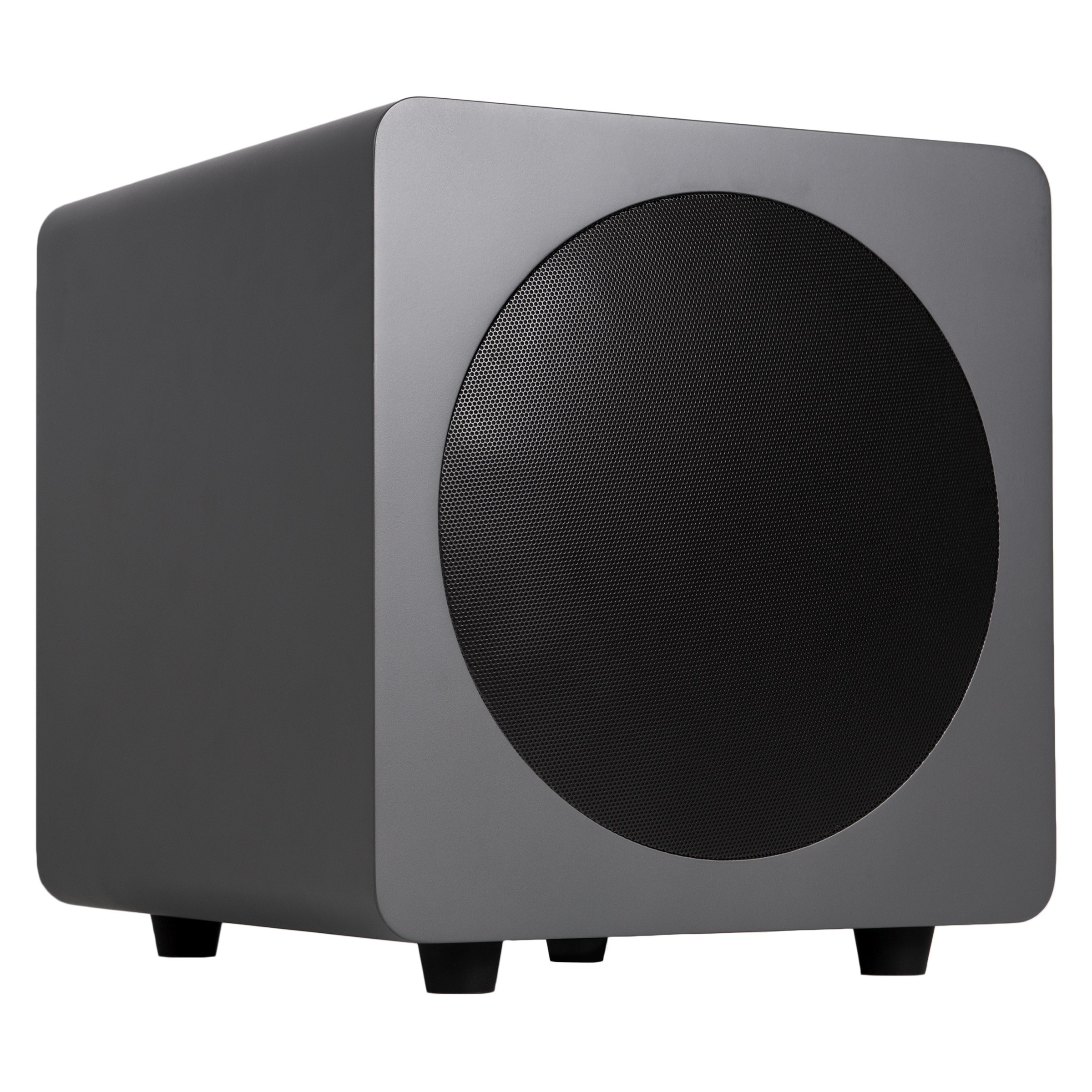 """Kanto sub8 Powered Subwoofer – 8"""" Paper Cone Driver — Powerful Bass Extension – Matte Grey"""