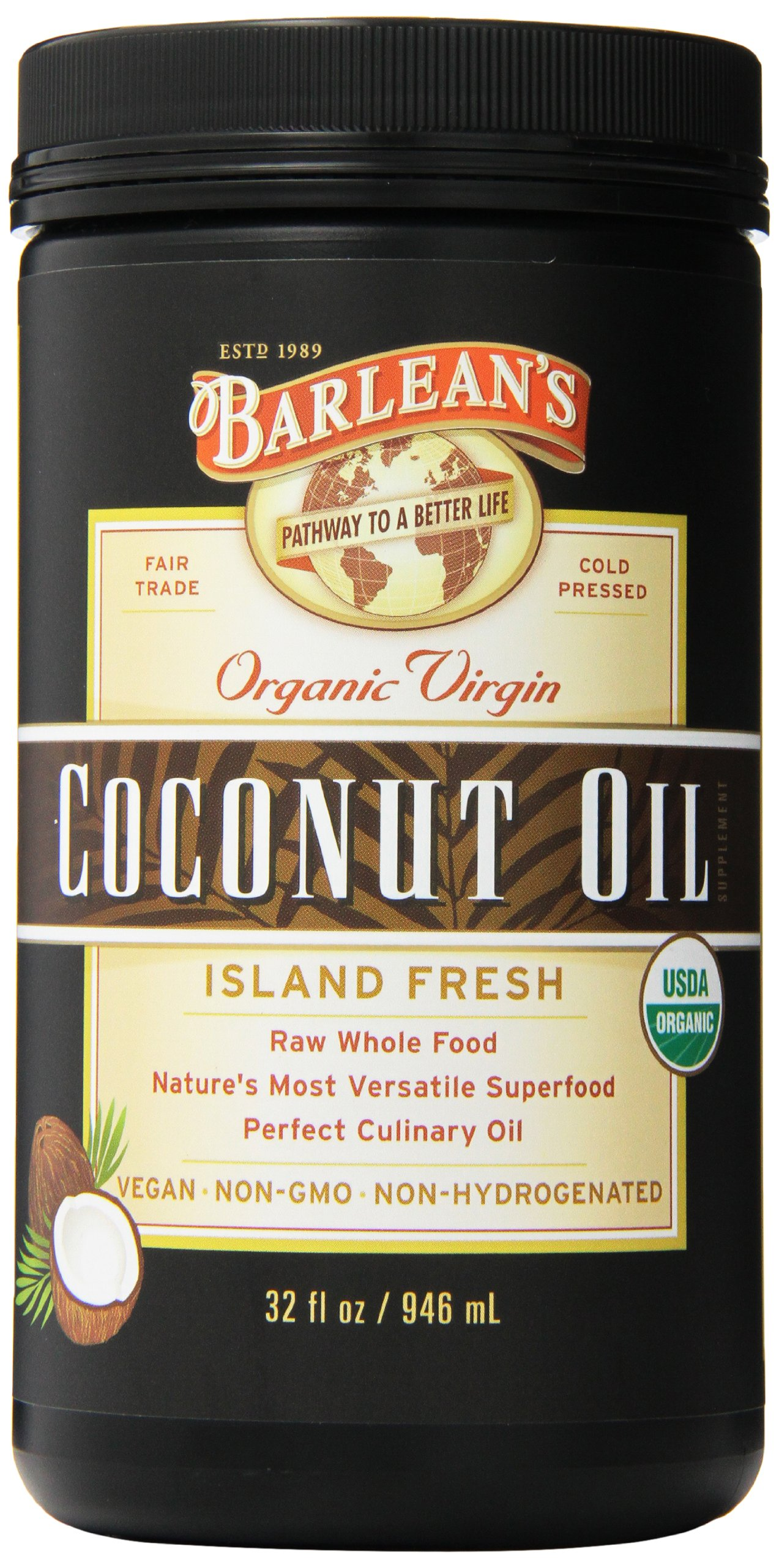 Barlean's Organic Virgin Coconut Oil, 32 Ounce