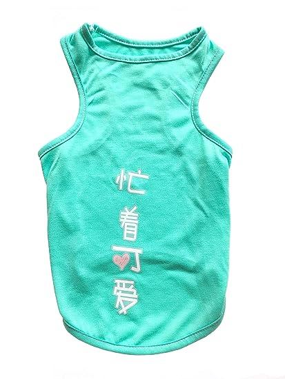 8cf165cb9b2a XIHAROOM Pet Dogs Cute Pattern Cotton Tank Top, Dog Sleeveless Summer T  Shirt for Small