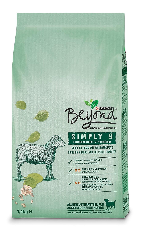 Purina Beyond Simply 9 Dry Dog Food, Natural Ingredients, 6er Pack (6 x 1.4 Kg Bag)